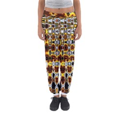 Bright Yellow And Black Abstract Women s Jogger Sweatpants by Nexatart