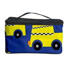 A Fun Cartoon Taxi Cab Tiling Pattern Cosmetic Storage Case by Nexatart