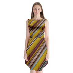 Colourful Lines Sleeveless Chiffon Dress   by Nexatart