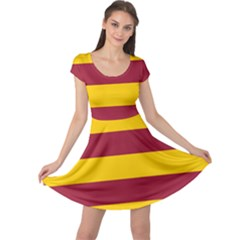 Oswald s Stripes Red Yellow Cap Sleeve Dresses