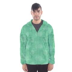 Polka Dot Scrapbook Paper Digital Green Hooded Wind Breaker (men)