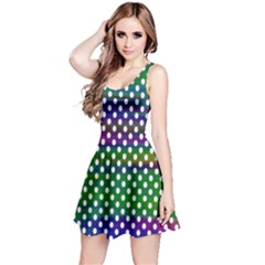 Digital Polka Dots Patterned Background Reversible Sleeveless Dress