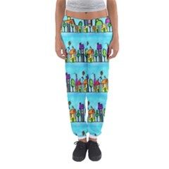 Colourful Street A Completely Seamless Tile Able Design Women s Jogger Sweatpants by Nexatart
