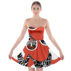 Twenty One Pilots Poster Contest Entry Strapless Bra Top Dress by Onesevenart
