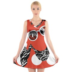 Twenty One Pilots Poster Contest Entry V Neck Sleeveless Skater Dress by Onesevenart