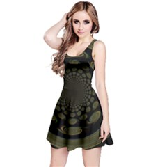 Dark Portal Fractal Esque Background Reversible Sleeveless Dress