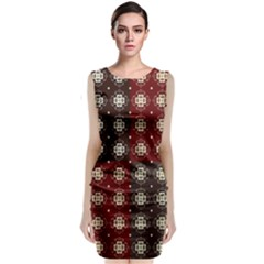 Decorative Pattern With Flowers Digital Computer Graphic Classic Sleeveless Midi Dress by Nexatart
