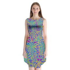 Abstract Floral Background Sleeveless Chiffon Dress   by Nexatart
