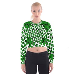 Abstract Clutter Cropped Sweatshirt by Nexatart