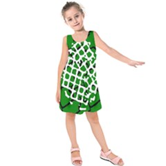 Abstract Clutter Kids  Sleeveless Dress