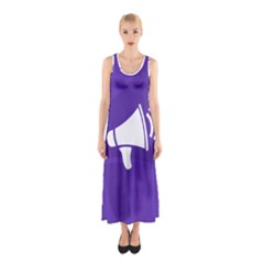Announce Sing White Blue Sleeveless Maxi Dress