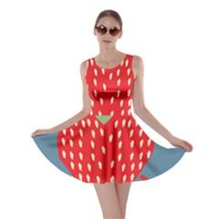 Fruit Red Strawberry Skater Dress
