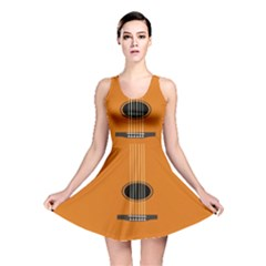 Minimalism Art Simple Guitar Reversible Skater Dress