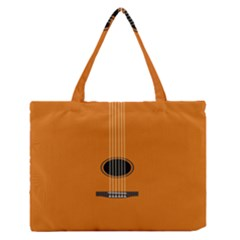 Minimalism Art Simple Guitar Medium Zipper Tote Bag