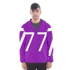 Number 7 Purple Hooded Wind Breaker (men) by Mariart