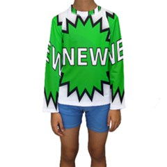 New Icon Sign Kids  Long Sleeve Swimwear by Mariart