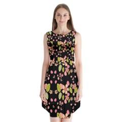 Floral Pattern Sleeveless Chiffon Dress   by Valentinaart