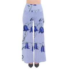 Floral Blue Bluebell Flowers Watercolor Painting Pants by Nexatart