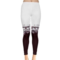 Bubbles In Red Wine Leggings  by Nexatart