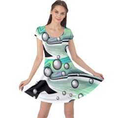 Small And Big Bubbles Cap Sleeve Dresses by Nexatart