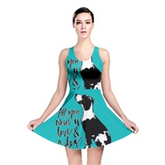 Dog Person Reversible Skater Dress by Valentinaart