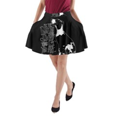 Dog Person A Line Pocket Skirt by Valentinaart