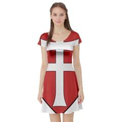 Coat Of Arms Of Apostolic Kingdom Of Hungary, 1172 1196 Short Sleeve Skater Dress by abbeyz71