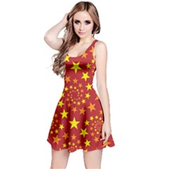 Star Stars Pattern Design Reversible Sleeveless Dress by Nexatart