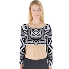 Celtic Draw Drawing Hand Draw Long Sleeve Crop Top