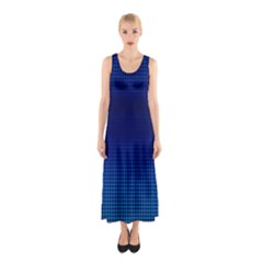 Blue Dot Sleeveless Maxi Dress by PhotoNOLA