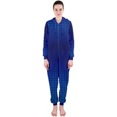 Blue Dot Hooded Jumpsuit (ladies)  by PhotoNOLA