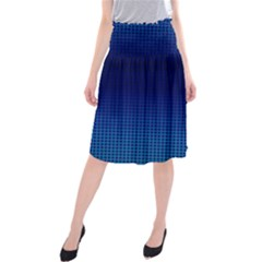 Blue Dot Midi Beach Skirt by PhotoNOLA