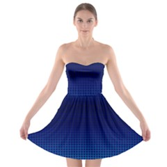 Blue Dot Strapless Bra Top Dress by PhotoNOLA