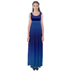 Blue Dot Empire Waist Maxi Dress by PhotoNOLA