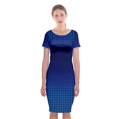 Blue Dot Classic Short Sleeve Midi Dress by PhotoNOLA
