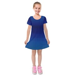 Blue Dot Kids  Short Sleeve Velvet Dress by PhotoNOLA