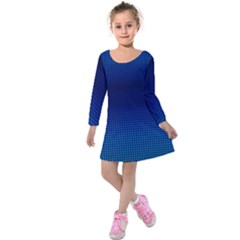 Blue Dot Kids  Long Sleeve Velvet Dress by PhotoNOLA