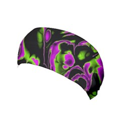 Glowing Fractal B Yoga Headband by Fractalworld
