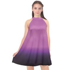 Purple Fog Halter Neckline Chiffon Dress  by LetsDanceHaveFun