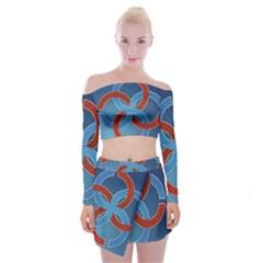 Svadebnik Symbol Slave Patterns Off Shoulder Top With Skirt Set by Nexatart