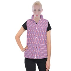 Pattern Abstract Squiggles Gliftex Women s Button Up Puffer Vest by Nexatart