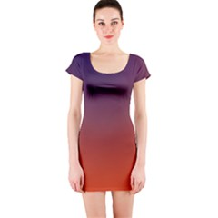 Course Colorful Pattern Abstract Short Sleeve Bodycon Dress