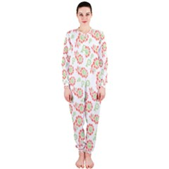 Flower Floral Red Star Sunflower Onepiece Jumpsuit (ladies)  by Mariart