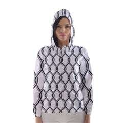 Iron Wire Black White Hooded Wind Breaker (women) by Mariart