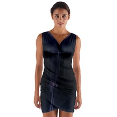 Abstract Dark Stylish Background Wrap Front Bodycon Dress