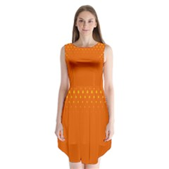 Orange Star Space Sleeveless Chiffon Dress   by Mariart