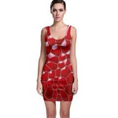 Plaid Iron Red Line Light Sleeveless Bodycon Dress by Mariart