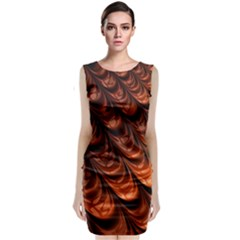 Fractal Mathematics Frax Hd Classic Sleeveless Midi Dress by Nexatart