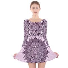 Sacred Art Shaman Shamanism Long Sleeve Velvet Skater Dress