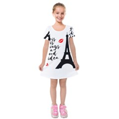 Paris Kids  Short Sleeve Velvet Dress by Valentinaart